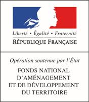Logo République Française : Opération soutenue par l'état. Fond national d'aménagement et de développement du territoire.